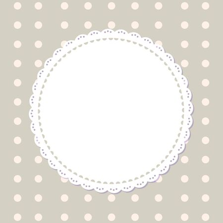 Round napkins with edge isolated on grey background in peas. Vector mockup of banner with spare place for text, circled border mockups, flat design templates Vektoros illusztráció