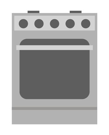 Kitchen appliance cooking equipment isolated on white. Oven household object for preparing food or washing electronic device. Dishwasher or dish washing machine, cooker stove vector icon in flat style