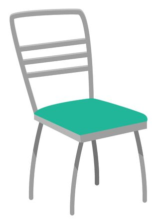 One of basic pieces of furniture, chair type of seat. Used in living or dining rooms, and dens, in schools and offices with desks. Object isolated on white background. Vector illustration flat style