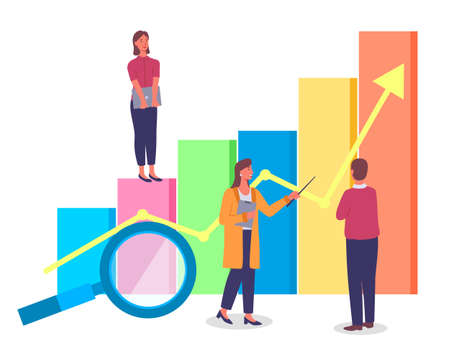 Way to business success effective management movement to the top concept with growth graphics design arrow of financial indicators. Successful teamwork and planning that leads to improved performance