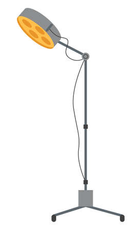 Special medical floor lamp icon for hospital appliance indoor furniture vector flat isolated operating equipment element. Surgical light to create bright good lighting in the room, artificial light source