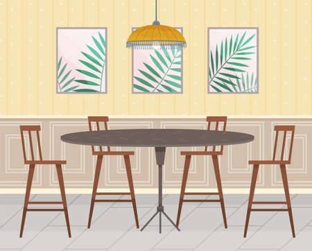 Flat design interior. Planning and arrangement of furniture in apartment. Living room. Home lifestyle. Style house