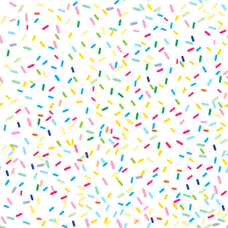 Seamless pattern with sprinkles. Vector original illustration