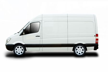 Delivery Van Isolated Stock Photo - 3654264
