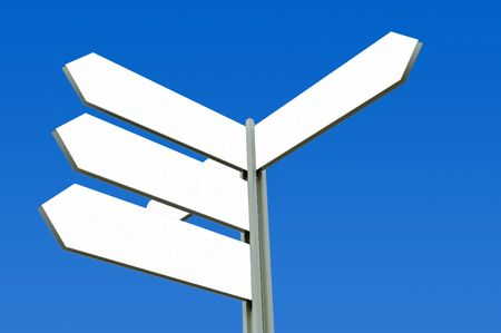Blank Directional Sign Post photo