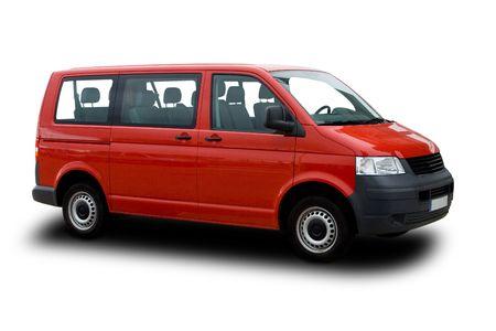 Red Passenger Van