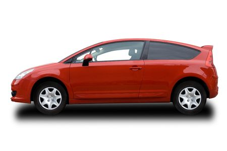 Red Hatchback Stock Photo