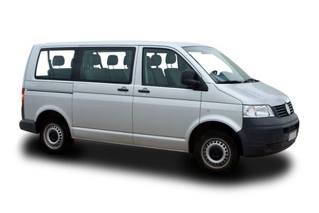 parked: Silver Passenger Van