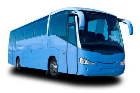 Blue Tour Bus Banque d'images
