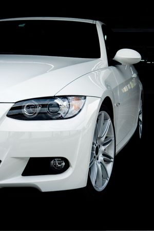 with white: Front of White Sports Car