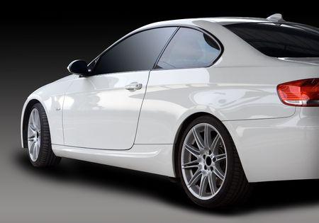 Neue White Car Standard-Bild - 4135912