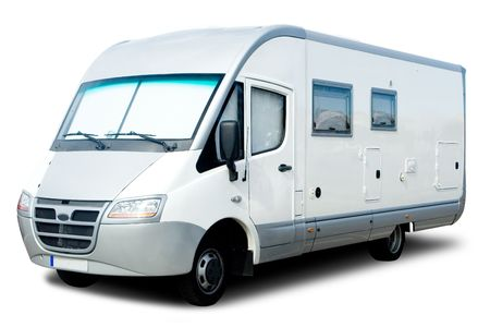 motorhome: Recreational Vehicle isolati su bianco