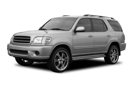 tinted: A SUV with tinted windows and cool wheels
