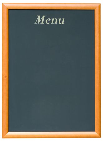 A Blank Blackboard Menu for a Restaurant  photo