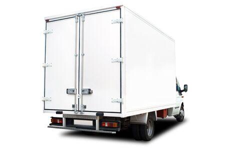 Un camion de livraison Big isol� sur fond blanc