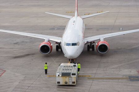 An Aircraft Departing the Gate for Take-off Stock Photo - 5281089