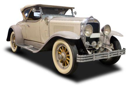 Licht bruin Classic Car geïsoleerd op wit
