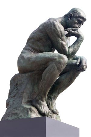 La statue de penseur par le français Rodin sculpteur  Banque d'images