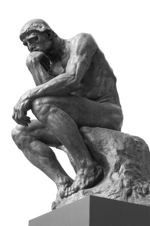 thinker: The Thinker Statue by the French Sculptor Rodin Stock Photo