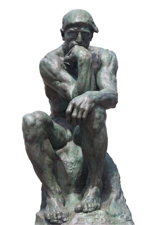 rodin: The Thinker Statue by the French Sculptor Rodin Stock Photo