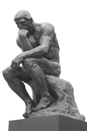 La statue de penseur par le français Rodin sculpteur  Banque d'images - 5937020