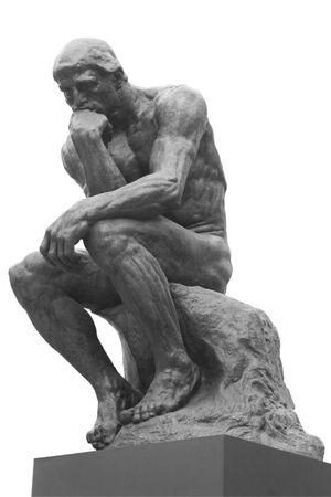 La statue de penseur par le fran�ais Rodin sculpteur  Banque d'images - 5937020