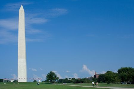 The Washington Monument in DC with Blue Sky Stock Photo - 5956388