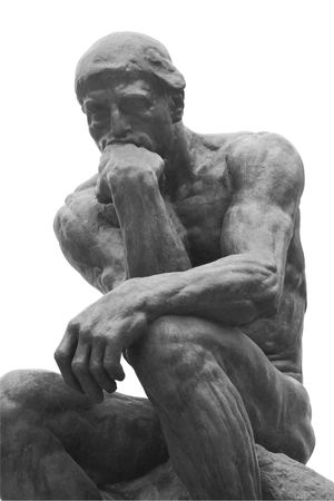 sculptor: The Thinker Statue by the French Sculptor Rodin Stock Photo