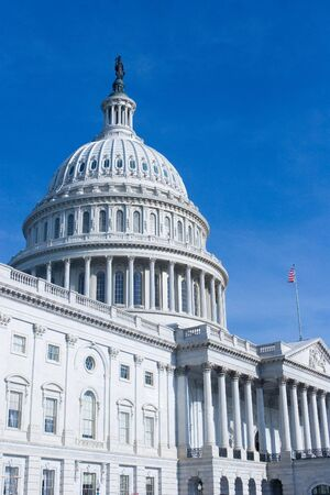 East Side of The US Capitol Building in Washington DC photo