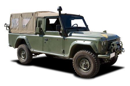 Verte europ�enne de camions militaires propre � blanc