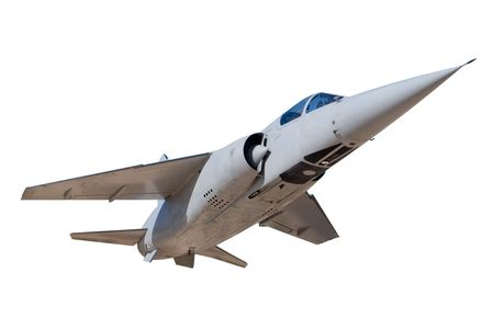 A Jet Fighter Aircraft Isolated on White Stock Photo - 6054808