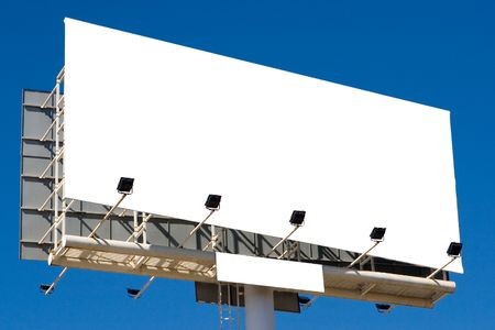 A big blank billboard in the blue sky Stock Photo - 6073979
