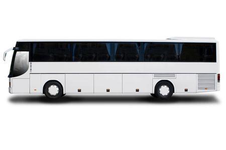 Touring: Bus Big Tour izolowana na biaÅ'ej  Zdjęcie Seryjne