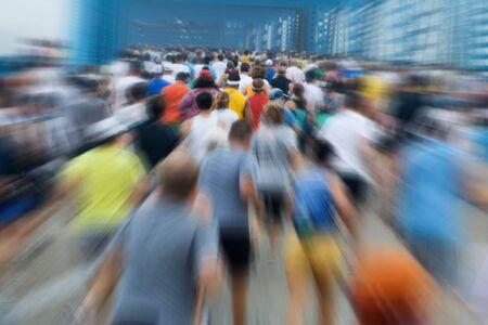 maraton: Corredores en un marat�n  Foto de archivo