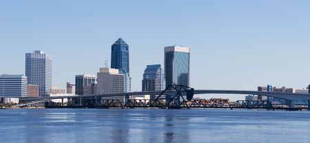 A panoramic view of Downtown Jacksonville, Florida  Stock Photo - 7244082