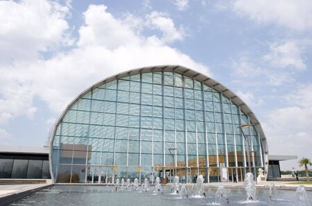VALENCIA, SPAIN - MAY 27: Feria Valencia Event Center is the site of this years International Rail Transportation Trade Fair on May 27, 2010 in Valencia, Spain.