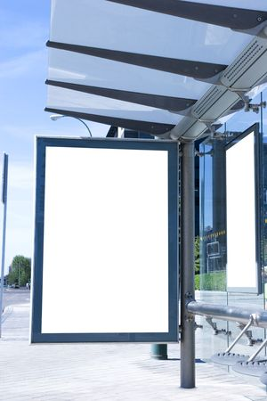fermata bus: Fermata autobus vuoto billboard