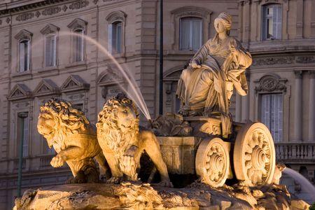 Cibeles Fountain in Madrid, Spain  Stock Photo - 7609692