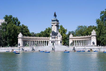 Parc du Retiro � Madrid, Espagne.  Banque d'images