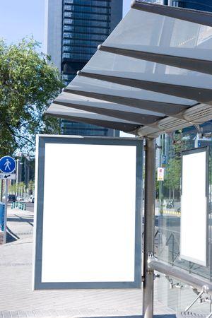 advertise: Blank Bus Stop Billboard
