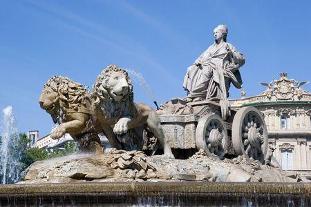 cibeles: Cibeles Fountain in Madrid, Spain