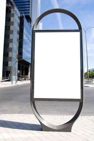 Ad Space on a city Street
