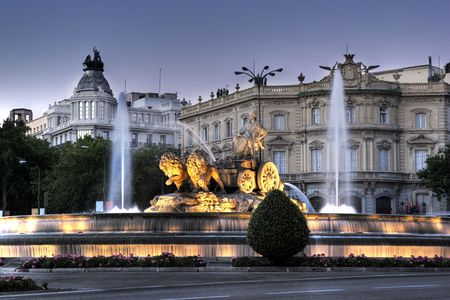 Cibeles Fountain in Madrid, Spain 스톡 콘텐츠