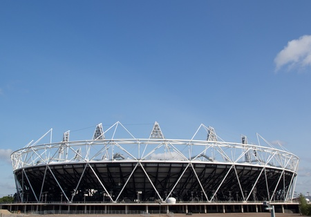 LONDON - MAY 31: The 2012 London Olympic stadium nears completion in Stratford London on May 31, 2011.