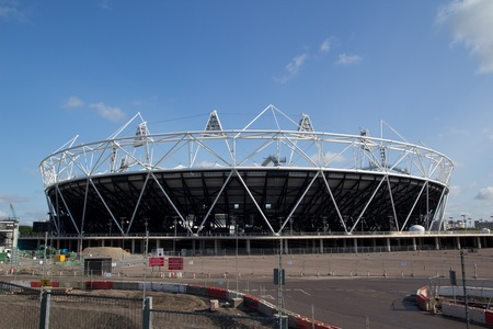 LONDON- MAY 31: London Olympic 2012 stadium nears completion in Stratford London on May 31, 2011. Stock Photo - 9664549