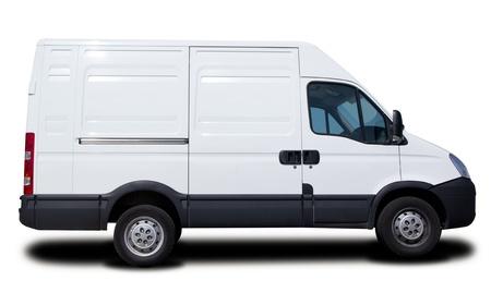 Big White Cargo Van Isolated photo