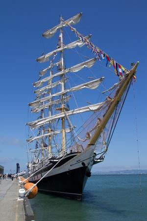 SAN FRANCISCO - AUG 20: The Russian Training Sailing Ship  Editorial