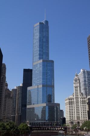 donald: CHICAGO - AUG 26: The Trump International Hotel and Tower on August 26, 2011 in Chicago, Illinois. This 98-story, 1,170-foot tall skyscraper was completed in 2009 at a cost of $847 million.