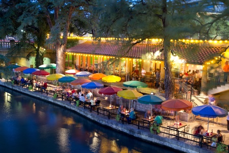 waterways: SAN ANTONIO, TX - AUG 13: The San Antonio River Walk in San Antonio, Texas on August 13, 2011. The Walk is 5 miles along the San Antonio River. Over 20 events take place on the River Walk every year.