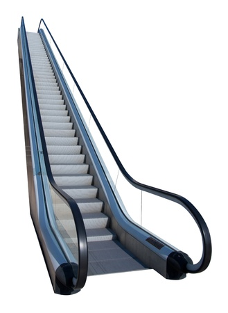 Un escalator isol� sur blanc